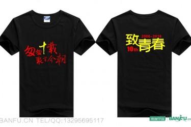 中山纪念中学毕业十周年同学聚会T恤衫