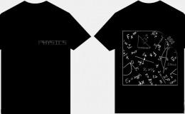 物理专业181班黑色短袖t恤衫化繁为简班服图案