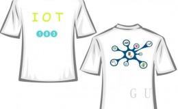 物联网专业183班简洁图案设计班服t恤衫制作