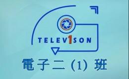 电子二(1)班班徽设计简洁大方青色班旗