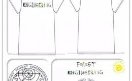 森工二班绿叶齿轮圆环班徽班旗班服图案设计