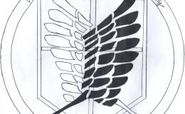 高一年级428班翅膀素材高中生班徽图案设计